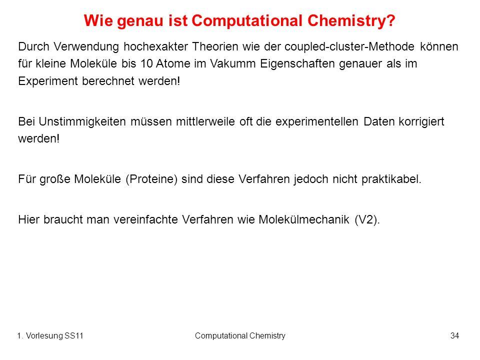 Wie genau ist Computational Chemistry