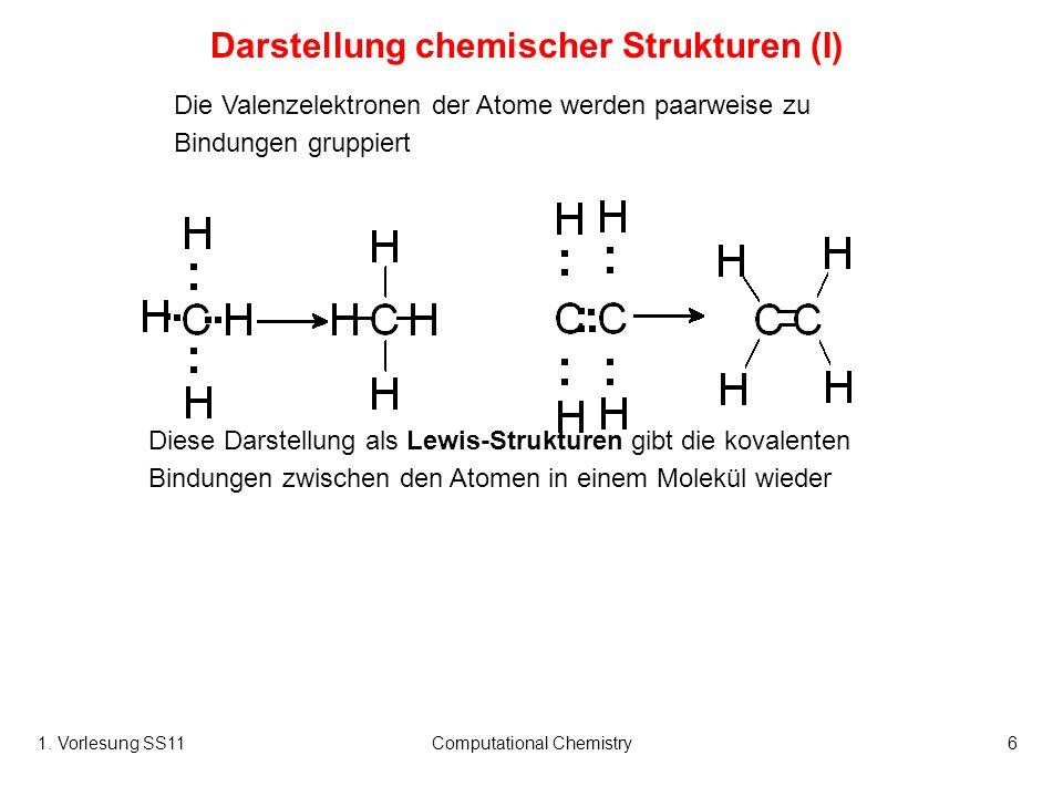 Darstellung chemischer Strukturen (I)