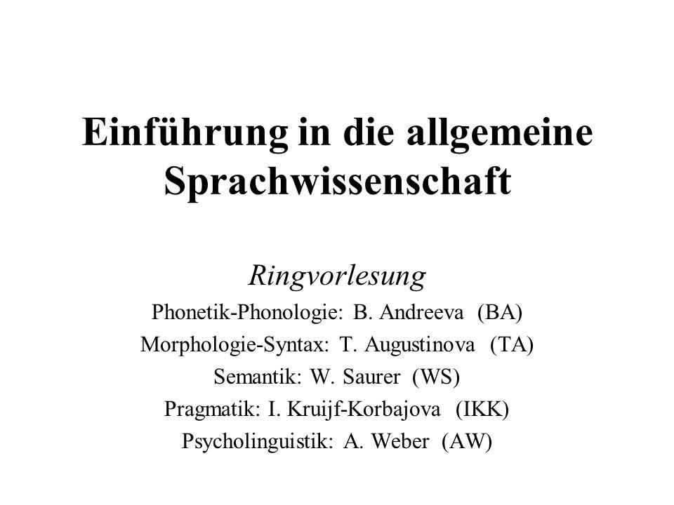 Einführung in die allgemeine Sprachwissenschaft