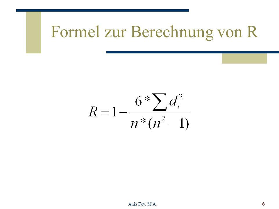 Formel zur Berechnung von R