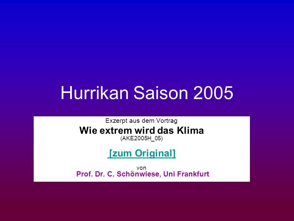 Hurrikan Saison 2005 Wie extrem wird das Klima (AKE2005H_05)