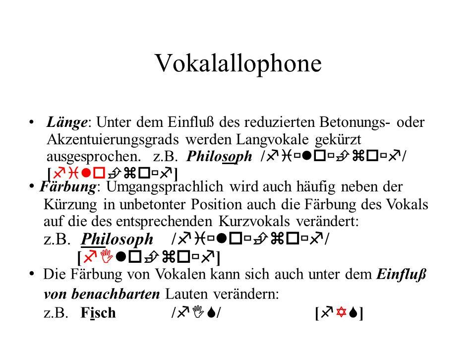 Vokalallophone