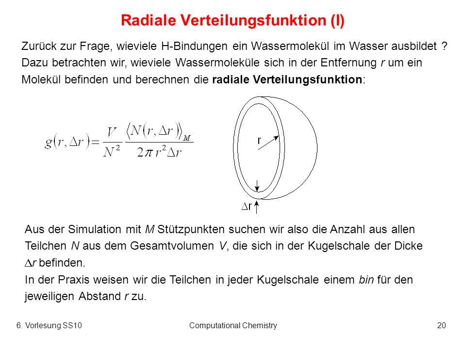 Radiale Verteilungsfunktion (I)