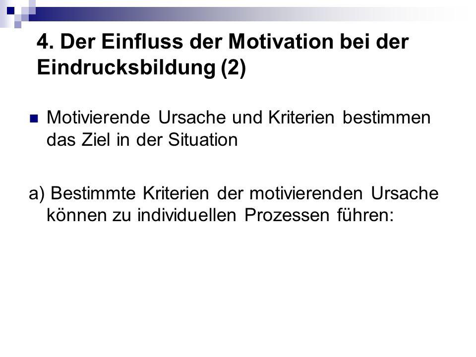 4. Der Einfluss der Motivation bei der Eindrucksbildung (2)