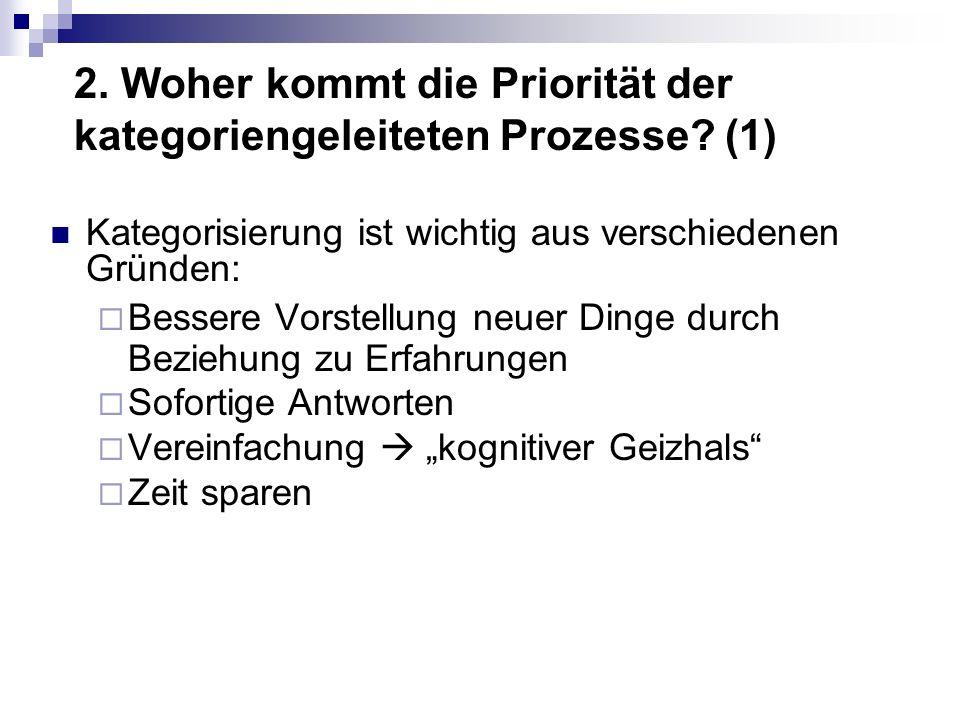 2. Woher kommt die Priorität der kategoriengeleiteten Prozesse (1)