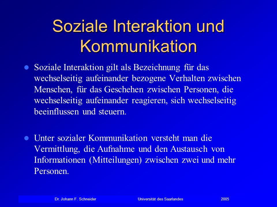 Soziale Interaktion und Kommunikation