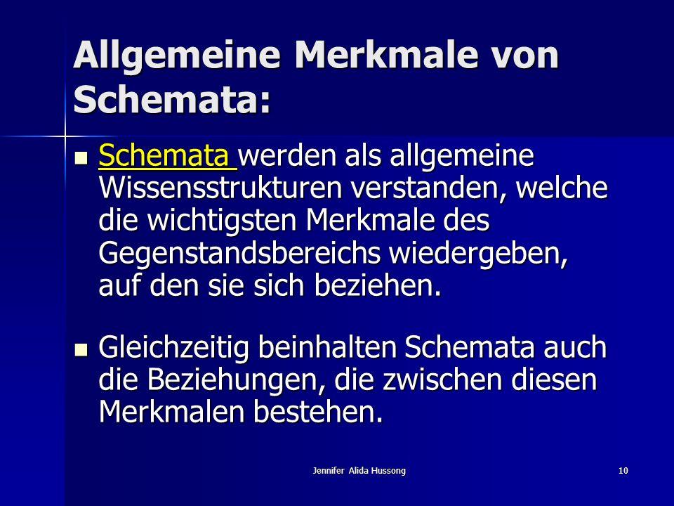 Allgemeine Merkmale von Schemata: