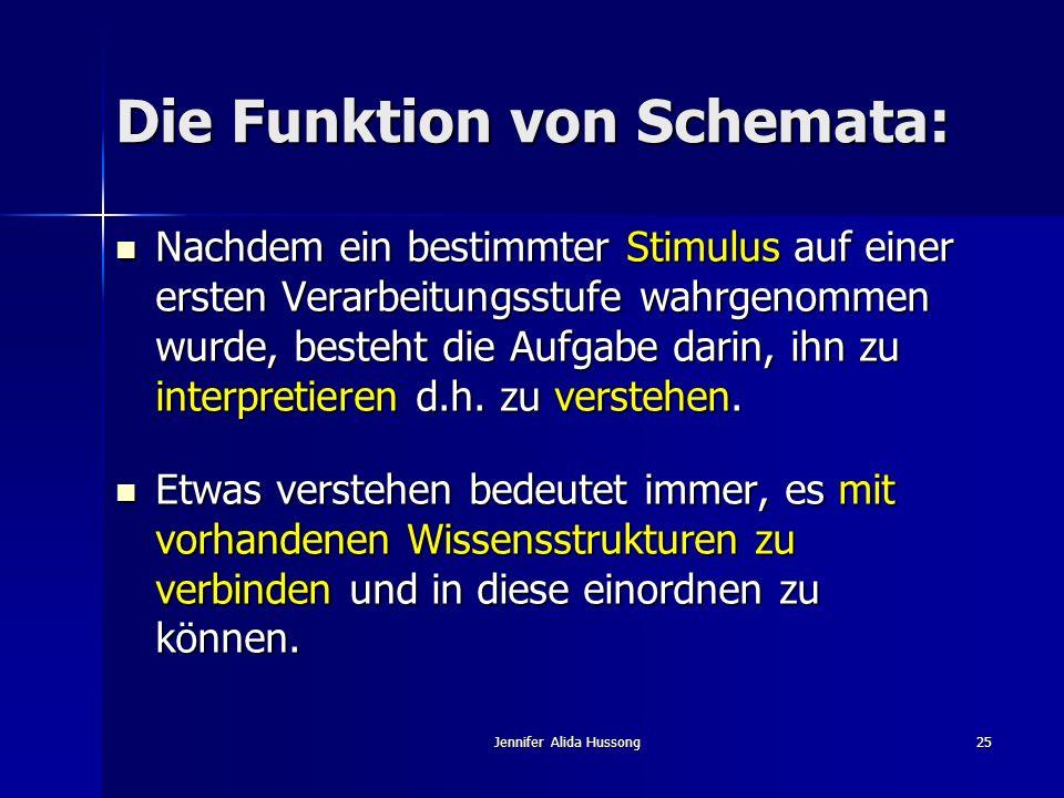 Die Funktion von Schemata: