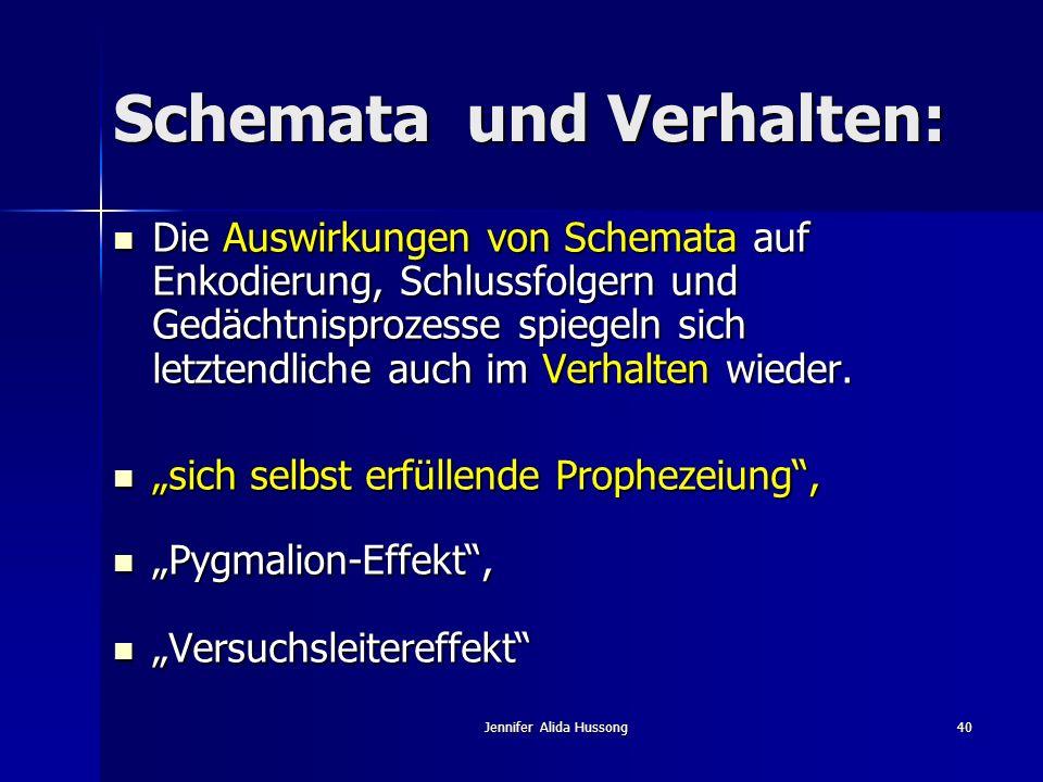 Schemata und Verhalten: