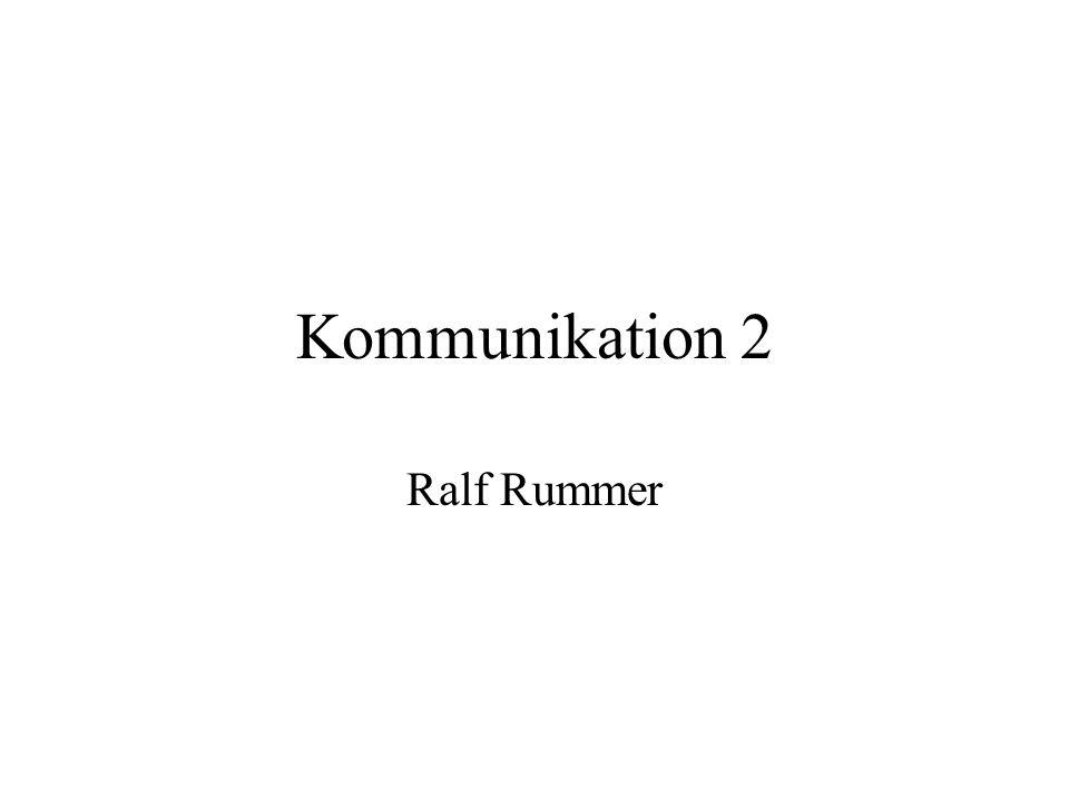 Kommunikation 2 Ralf Rummer