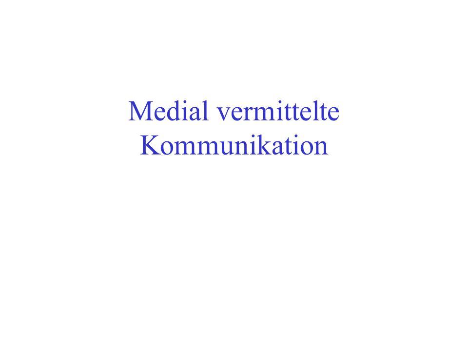 Medial vermittelte Kommunikation