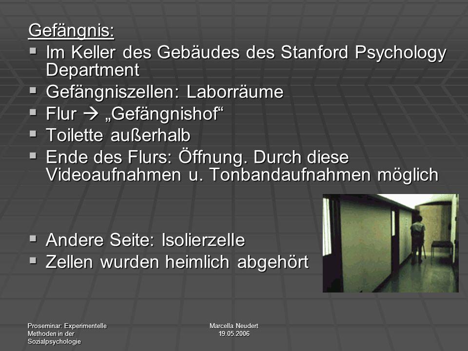 Im Keller des Gebäudes des Stanford Psychology Department
