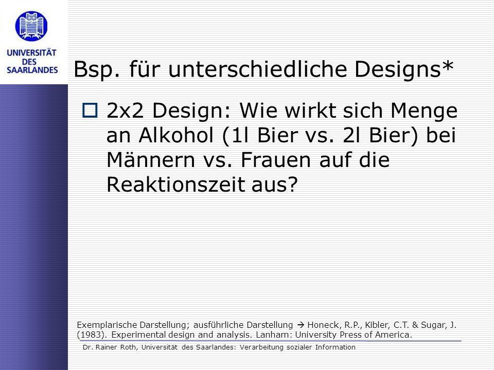 Bsp. für unterschiedliche Designs*