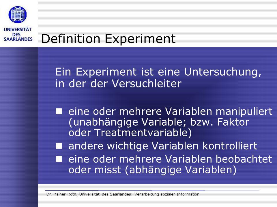 Definition Experiment