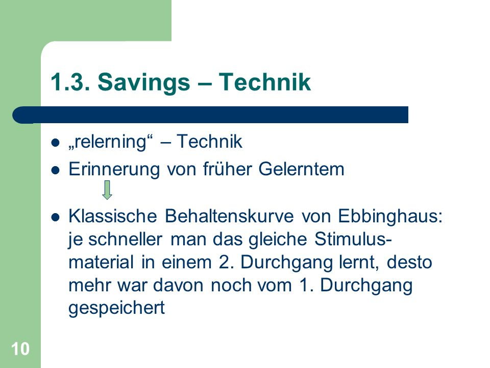 "1.3. Savings – Technik ""relerning – Technik"