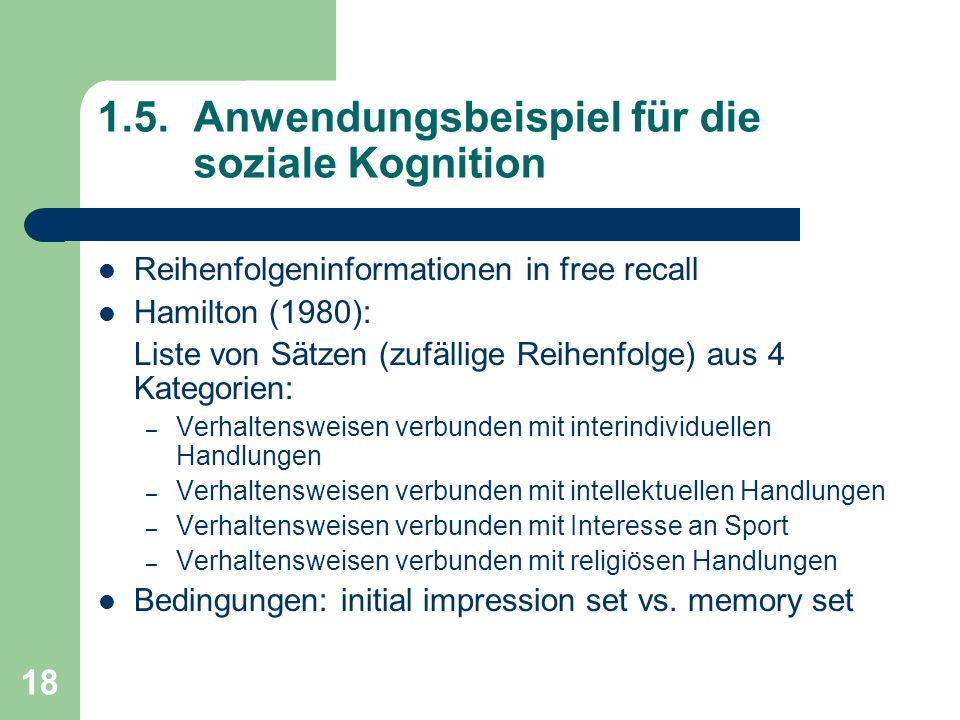 1.5. Anwendungsbeispiel für die soziale Kognition