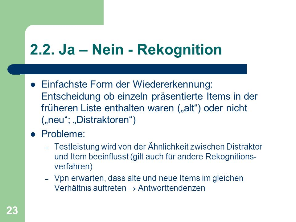 2.2. Ja – Nein - Rekognition