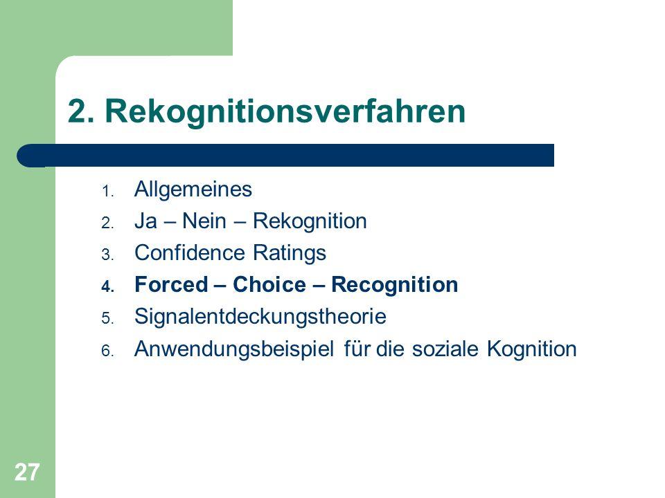 2. Rekognitionsverfahren