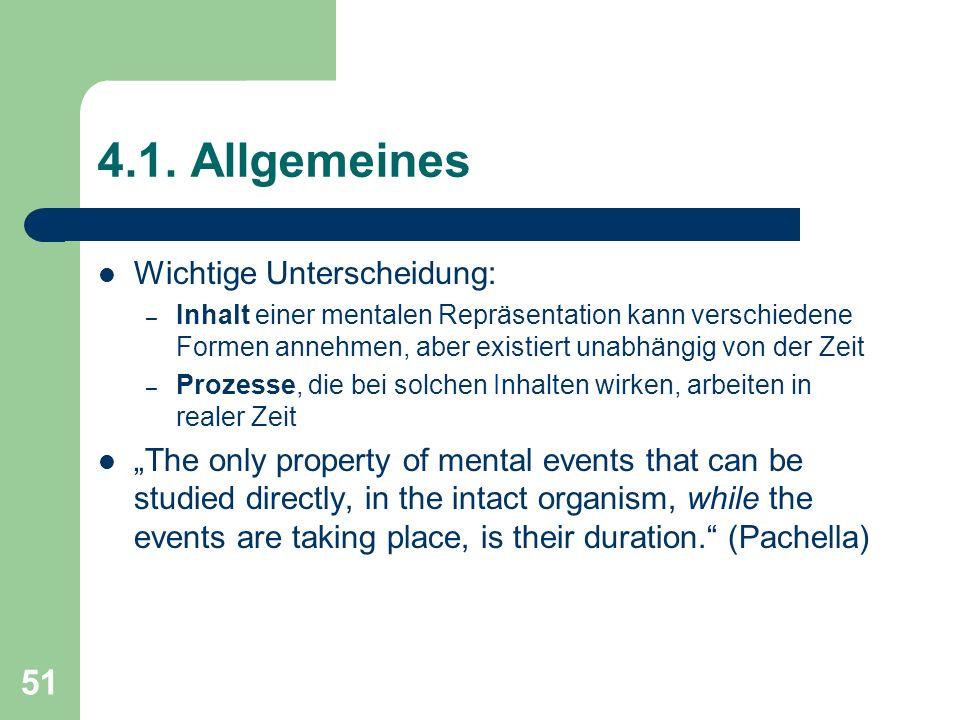 4.1. Allgemeines Wichtige Unterscheidung: