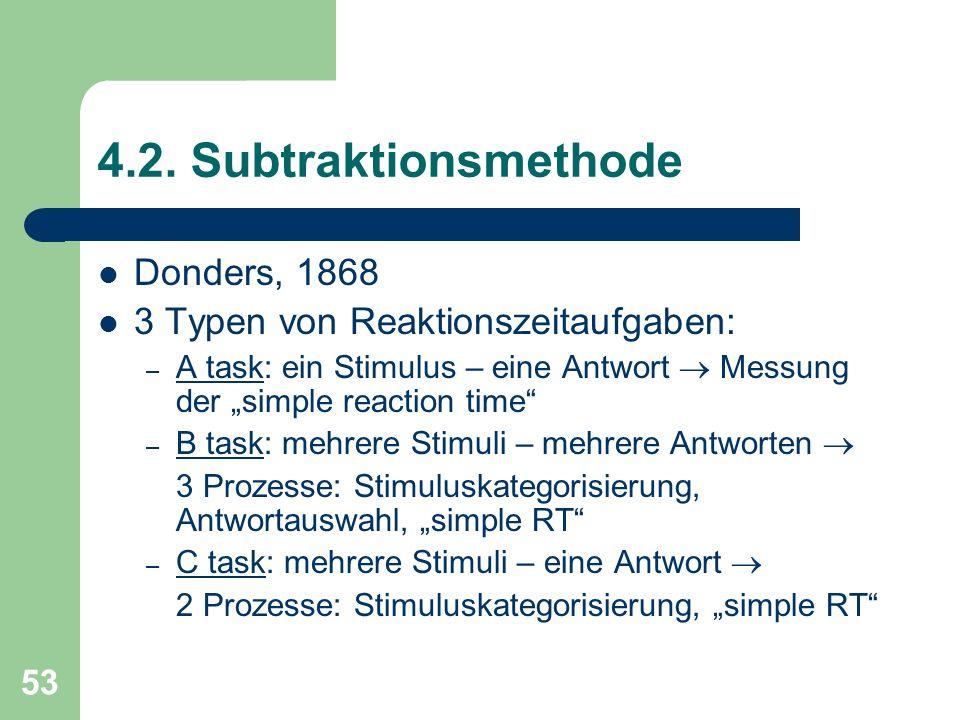 4.2. Subtraktionsmethode Donders, 1868