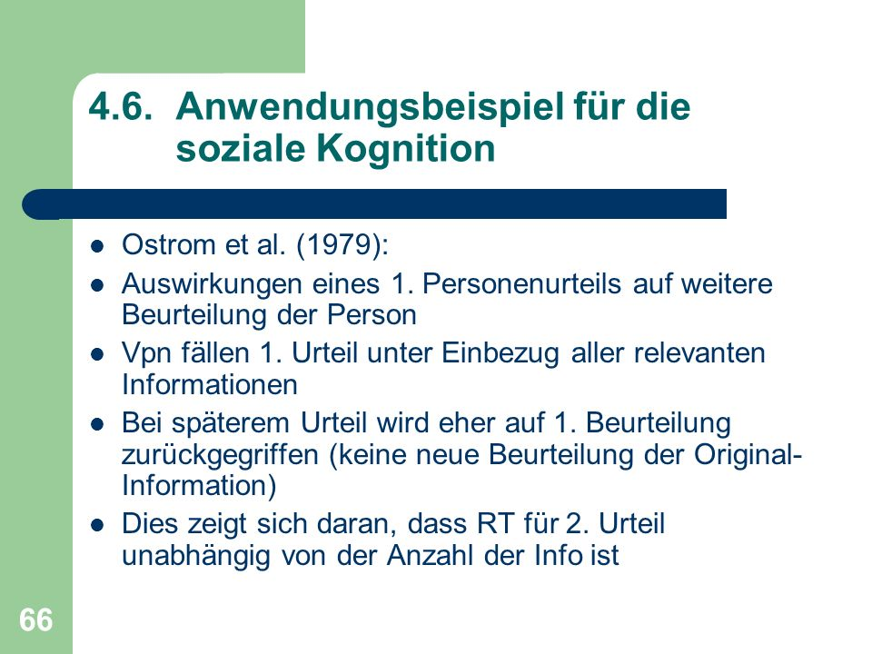 4.6. Anwendungsbeispiel für die soziale Kognition