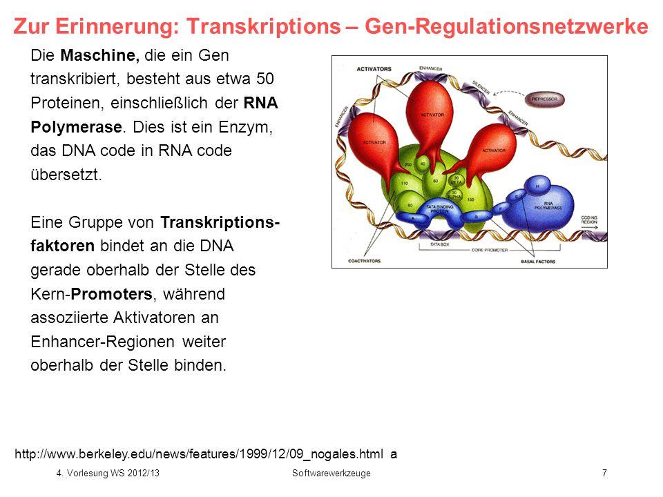 Zur Erinnerung: Transkriptions – Gen-Regulationsnetzwerke