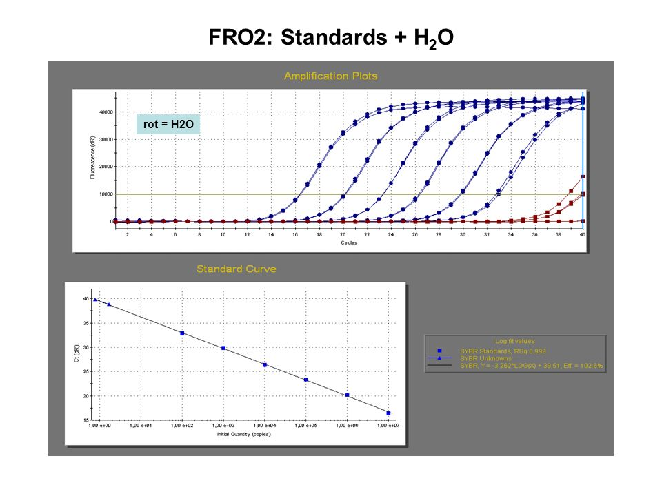 FRO2: Standards + H2O rot = H2O