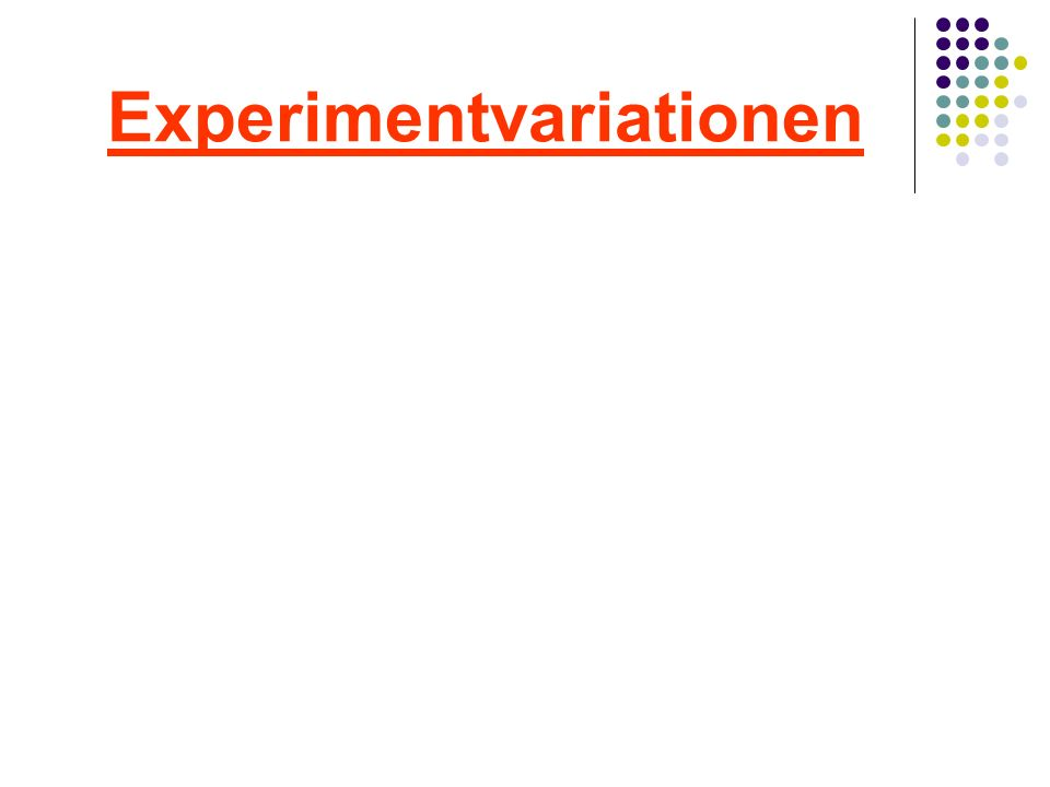 Experimentvariationen