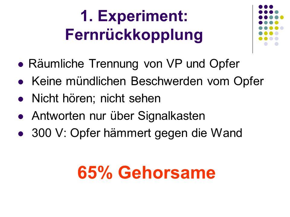 1. Experiment: Fernrückkopplung