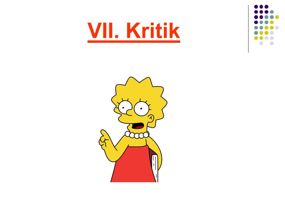 VII. Kritik