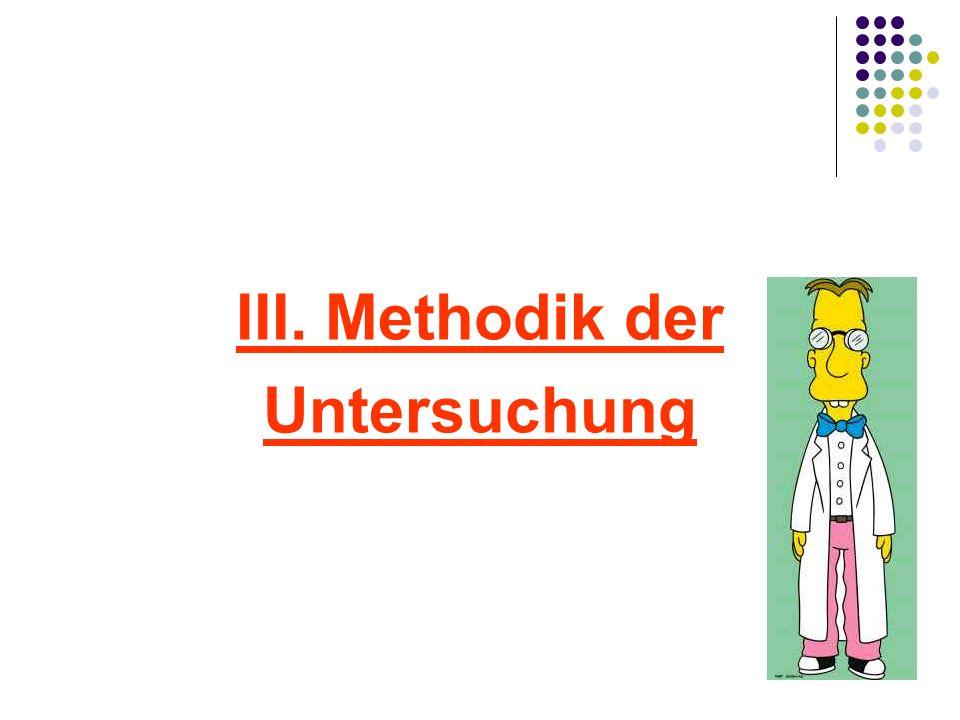 III. Methodik der Untersuchung