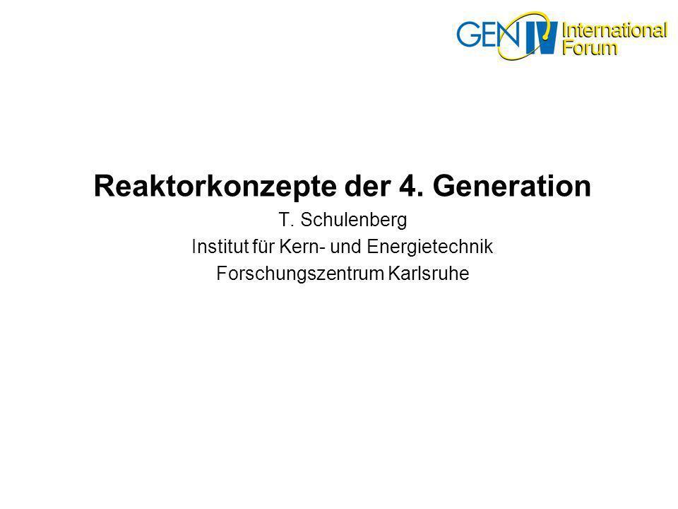 Reaktorkonzepte der 4. Generation