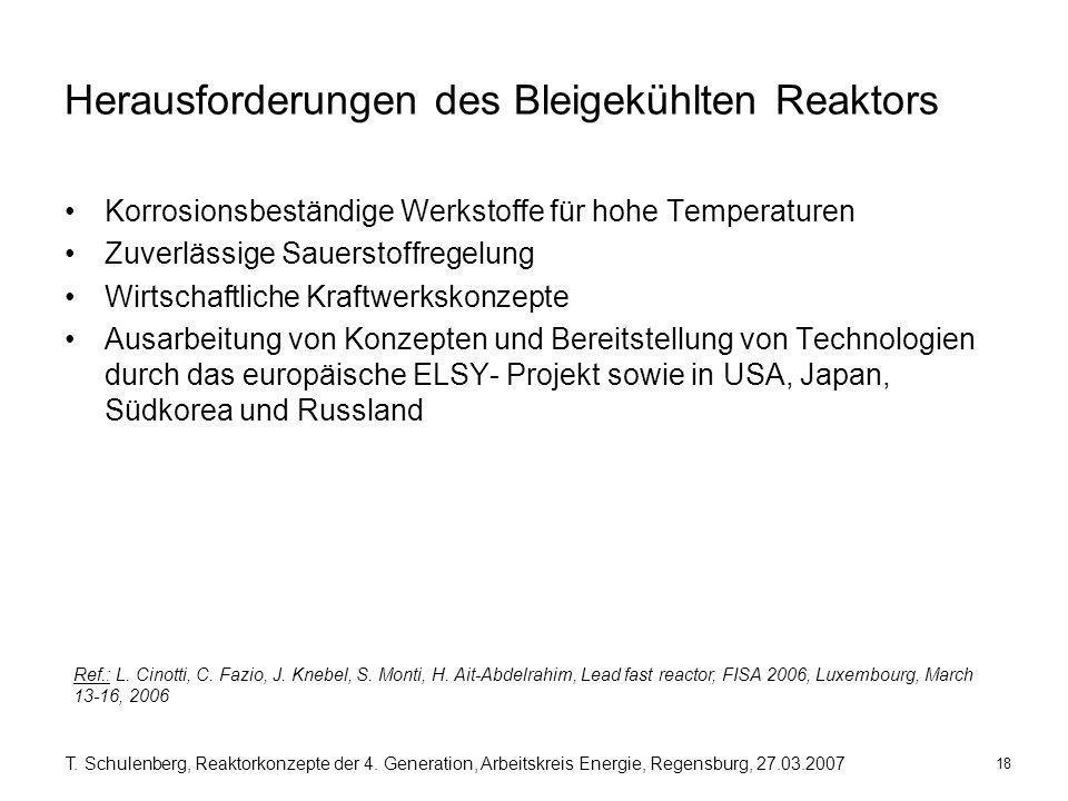 Herausforderungen des Bleigekühlten Reaktors