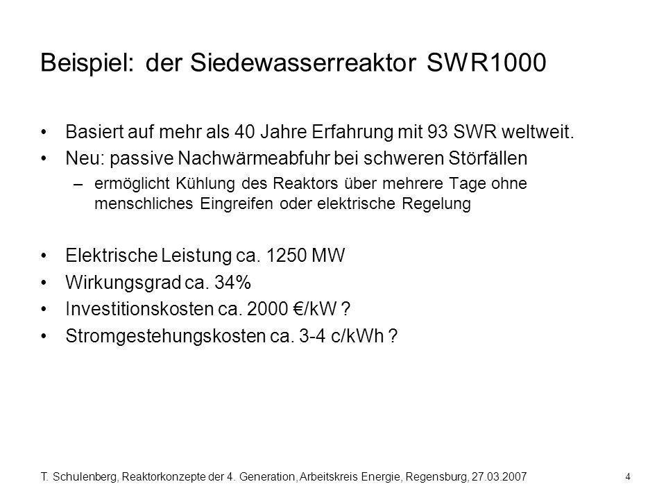 Beispiel: der Siedewasserreaktor SWR1000