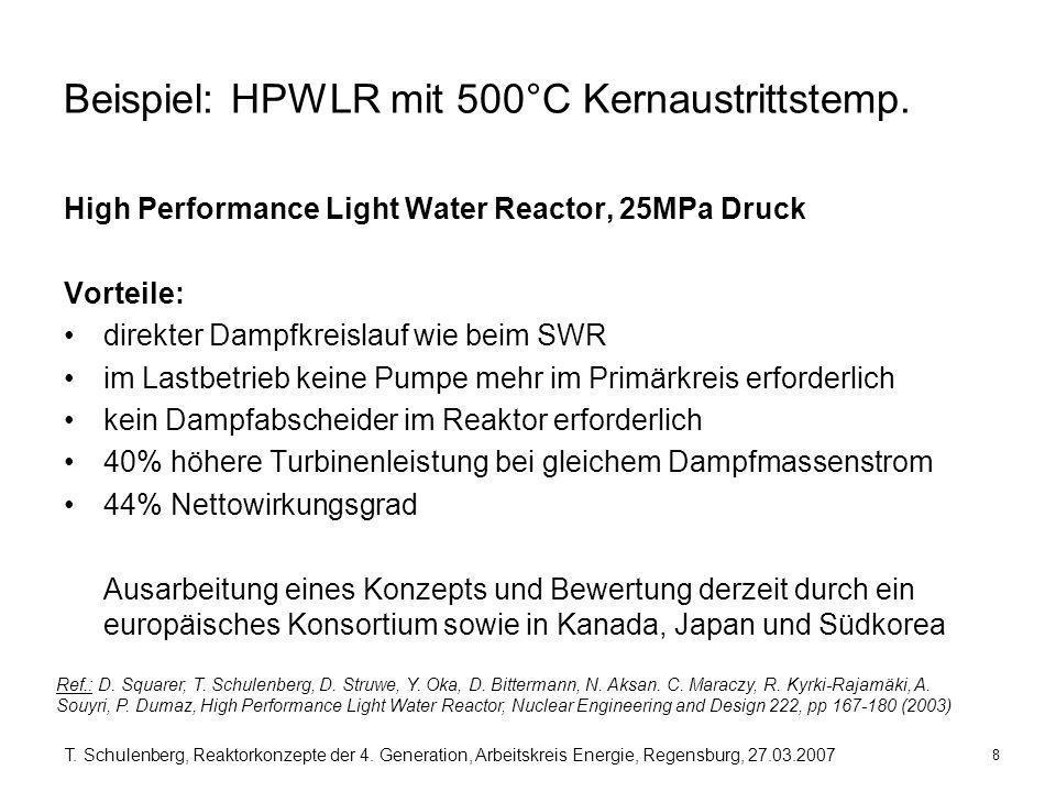 Beispiel: HPWLR mit 500°C Kernaustrittstemp.