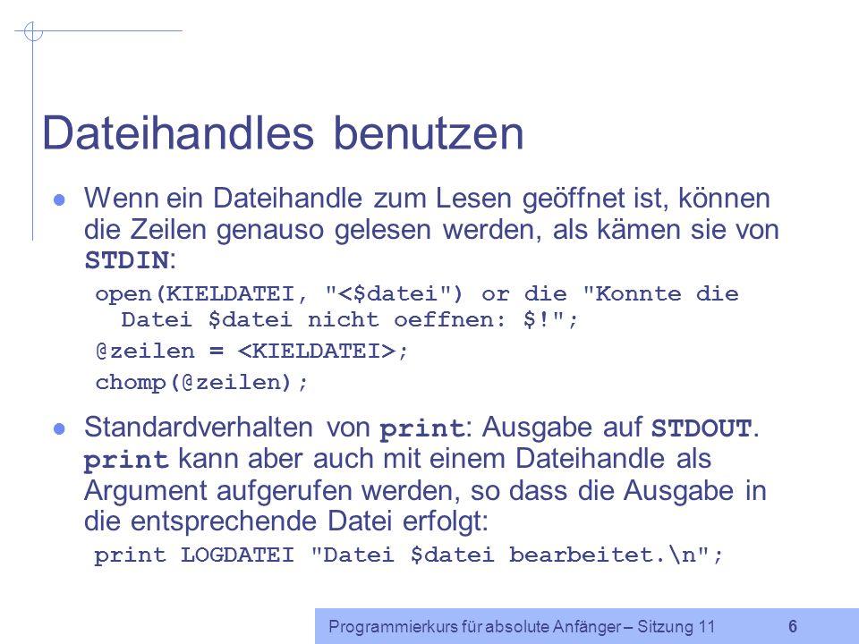 Dateihandles benutzen