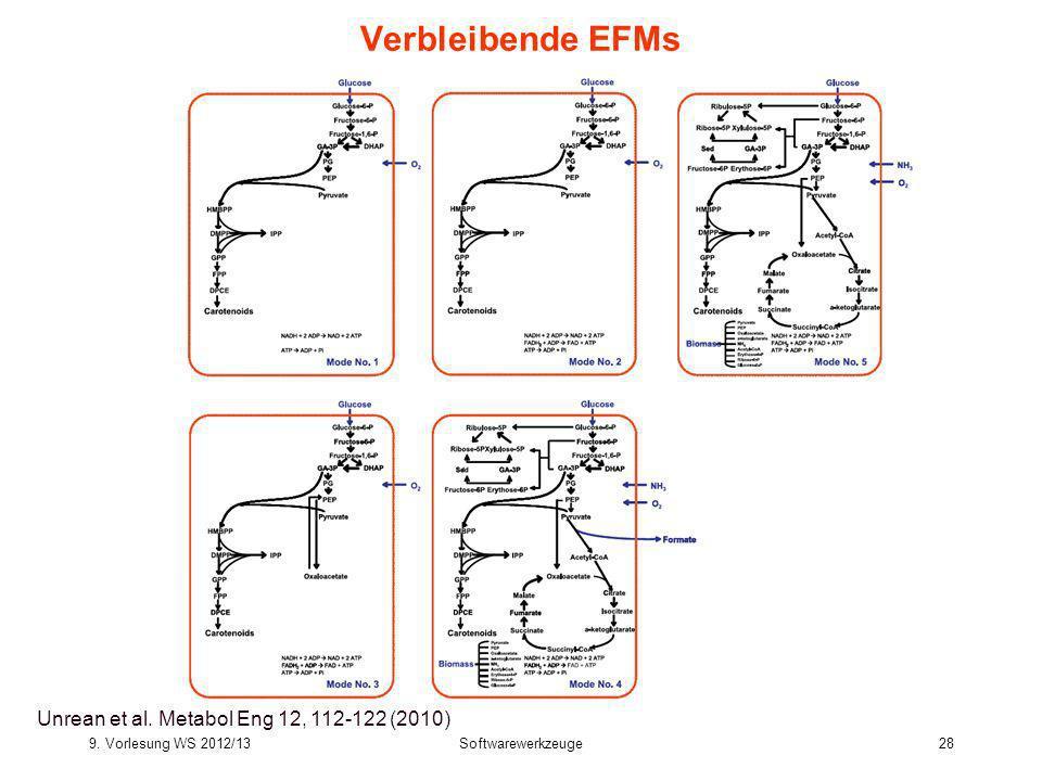 Verbleibende EFMs Bioinformatics III