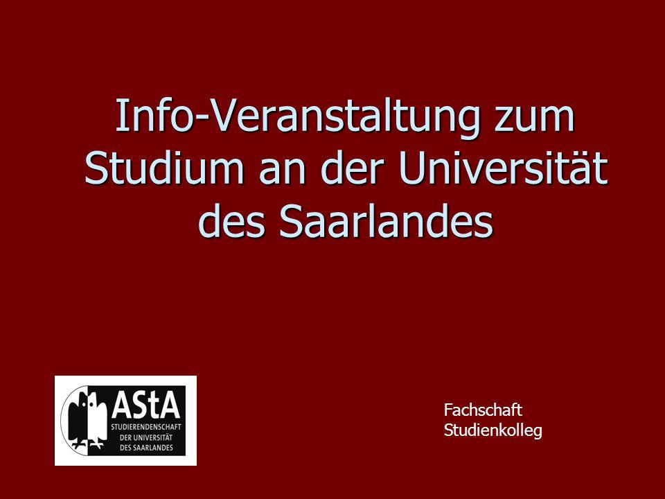 Info-Veranstaltung zum Studium an der Universität des Saarlandes