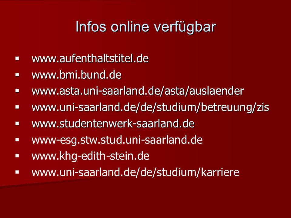 Infos online verfügbar