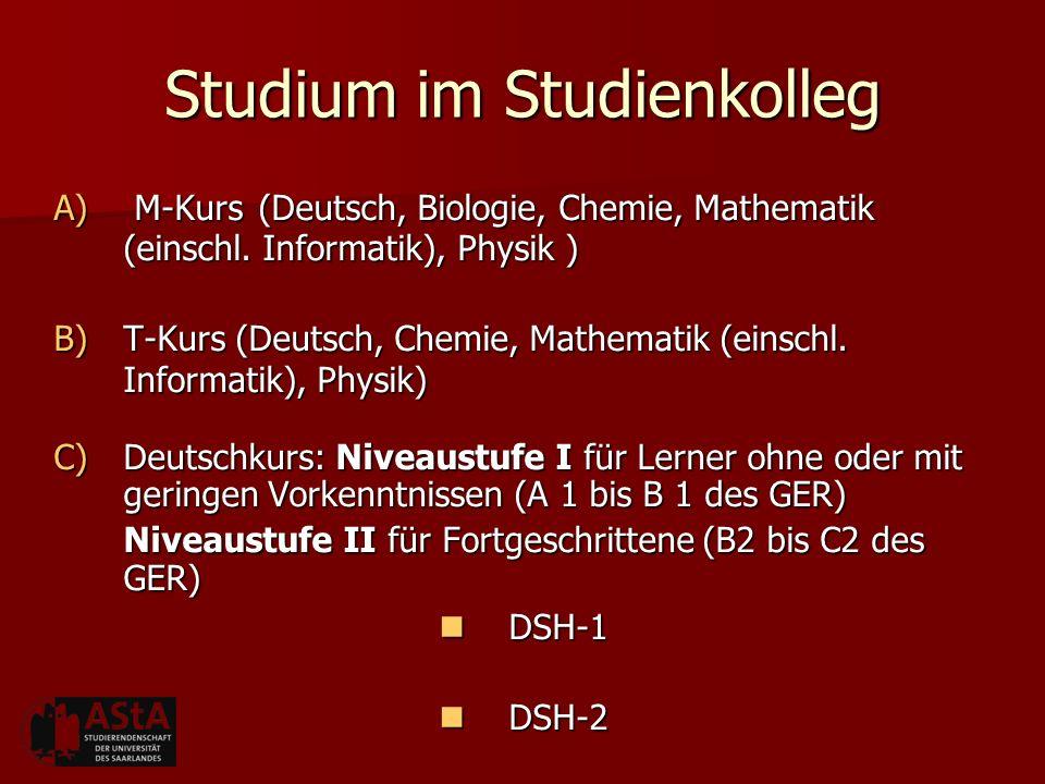 Studium im Studienkolleg