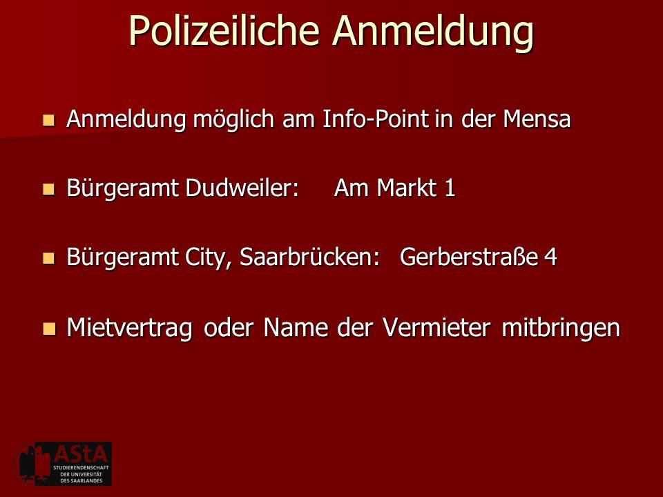 Polizeiliche Anmeldung