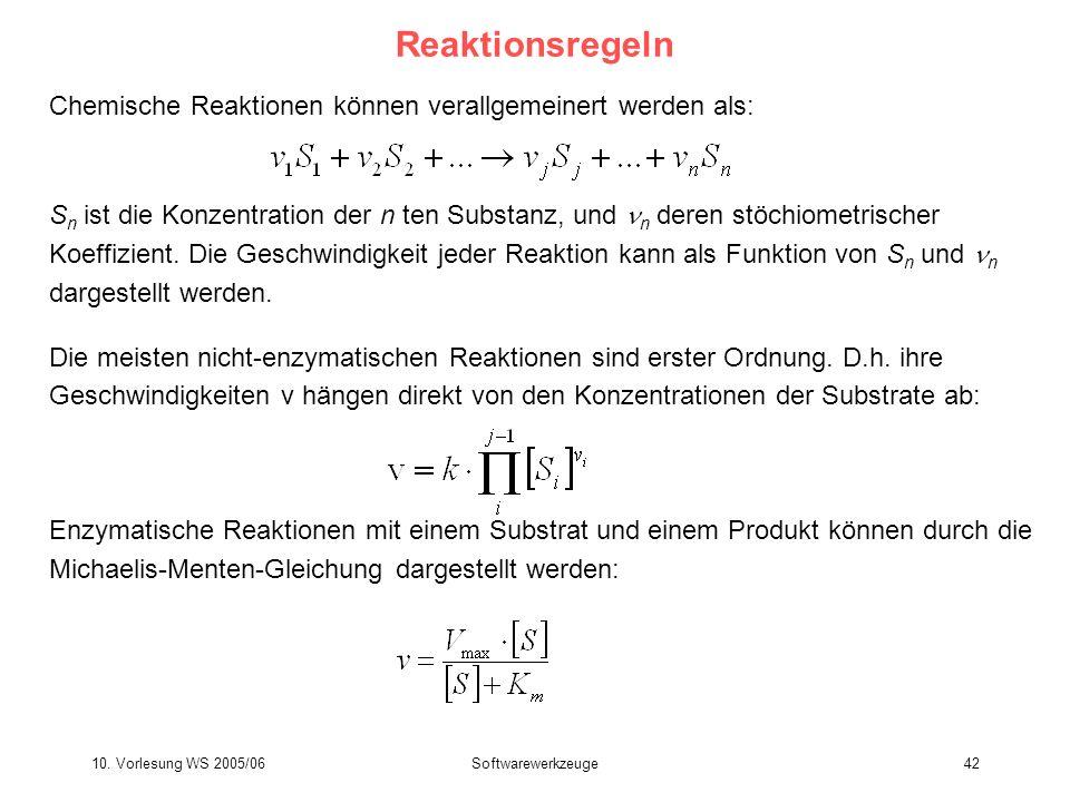 ReaktionsregelnChemische Reaktionen können verallgemeinert werden als: