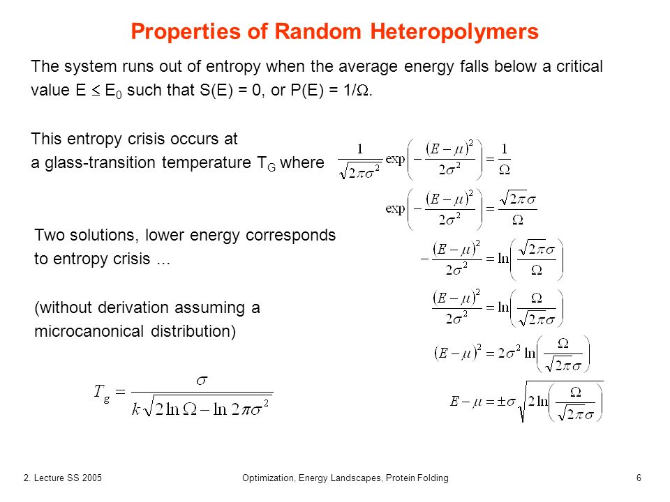 Properties of Random Heteropolymers