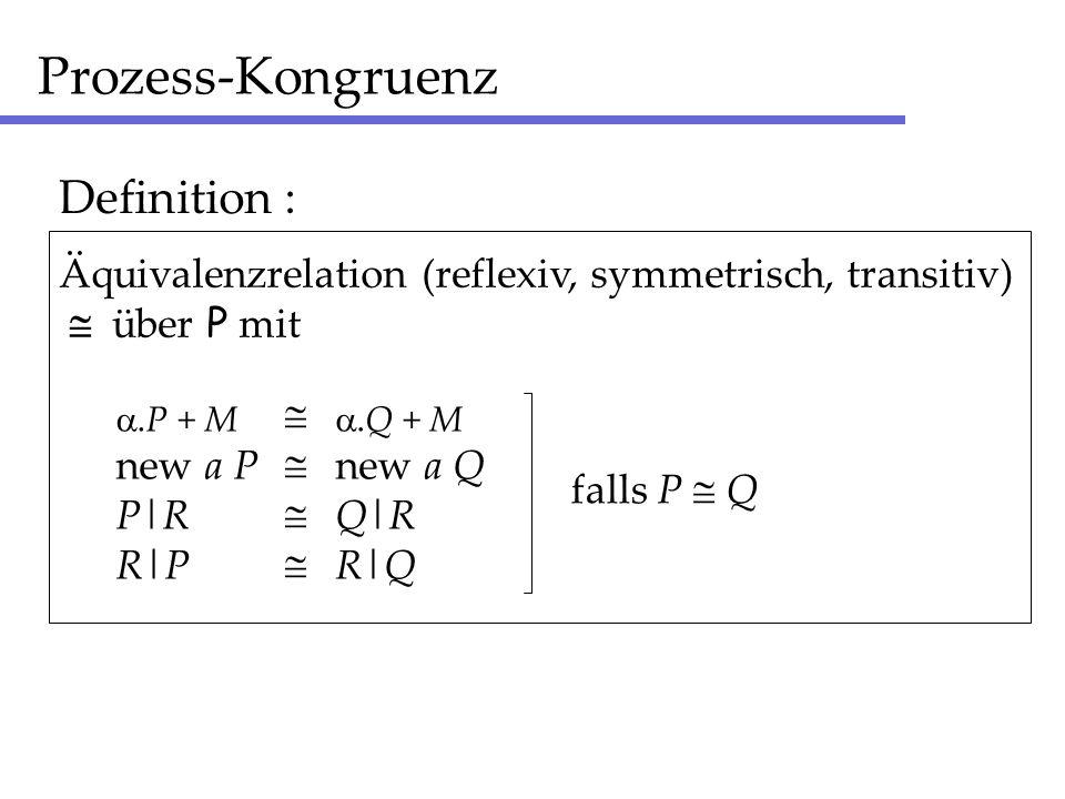 Prozess-Kongruenz Definition :
