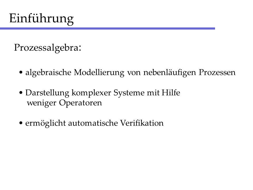 Einführung Prozessalgebra: