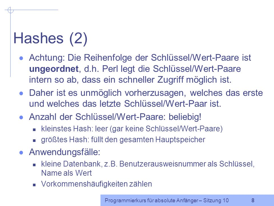 Hashes (2)