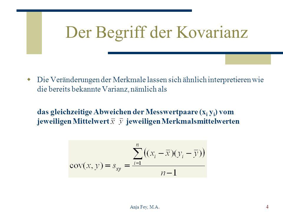 Der Begriff der Kovarianz