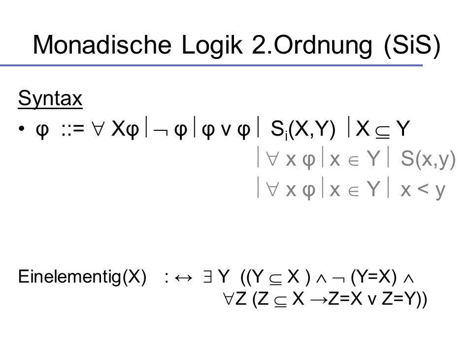 Monadische Logik 2.Ordnung (SiS)