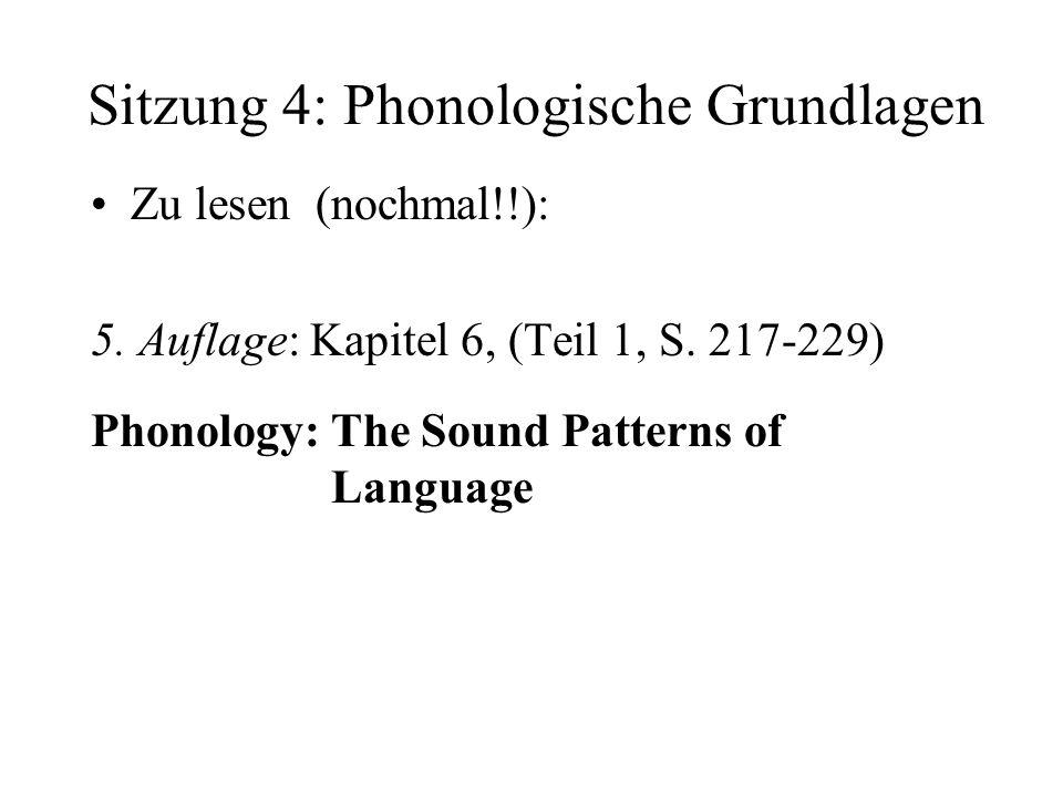 Sitzung 4: Phonologische Grundlagen