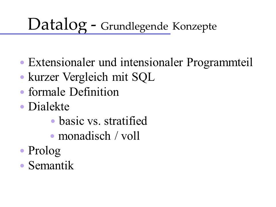Datalog - Grundlegende Konzepte